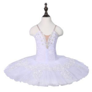 Girls White Stretch Tutu