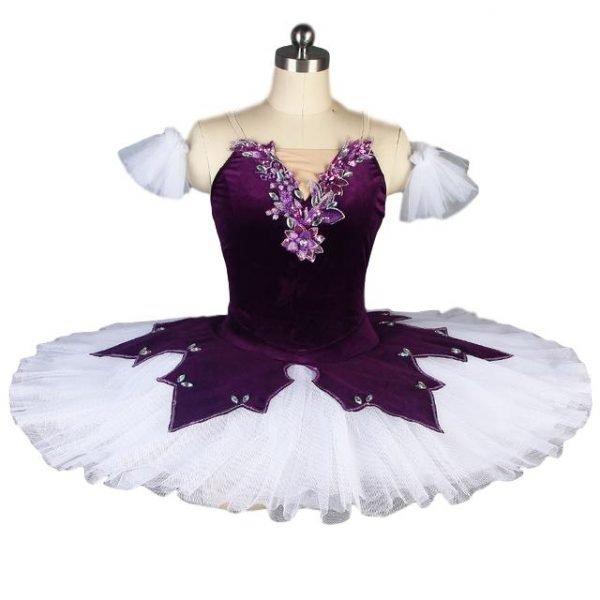 Purple Flowers Ballet Tutu