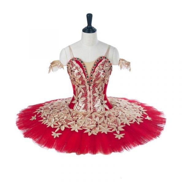 Ruby Gold Flowers Ballet Tutu