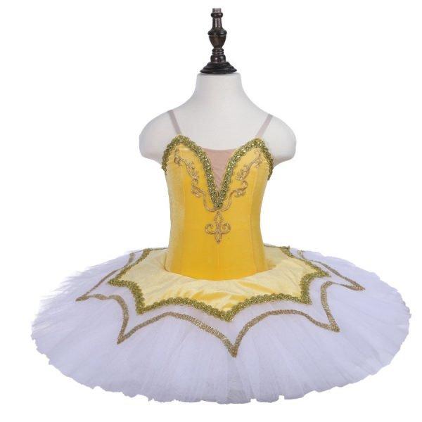 Yellow Stretch Ballet Tutu