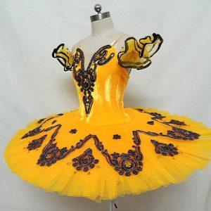 Yellow Velvet Ballet Tutu