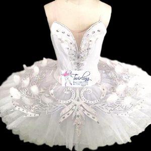Feathery White Swan Ballet Tutu