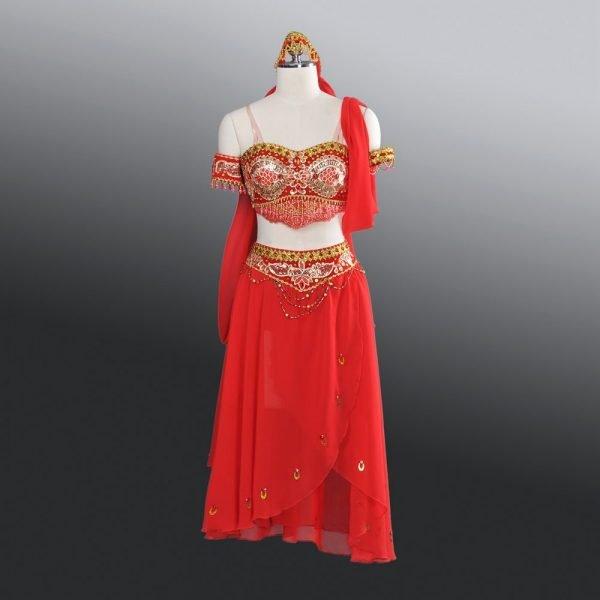 Seraphina red Arabian Ballet Costume