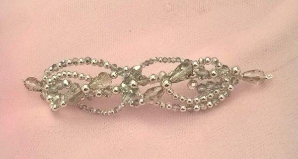Silver ballet hair slide