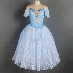 Blue Flowers Romantic Tutu
