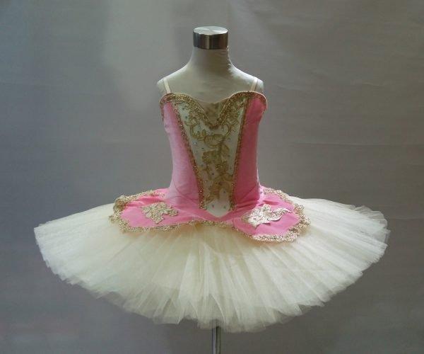 Pink velvet stretch tutu