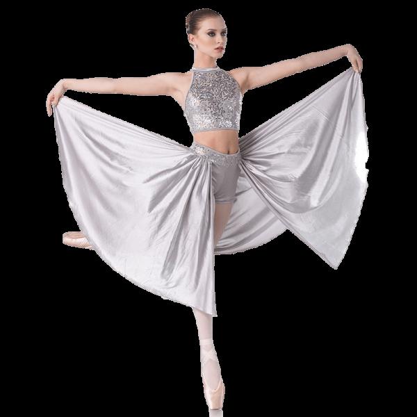 Silver Contemporary Dance Costume