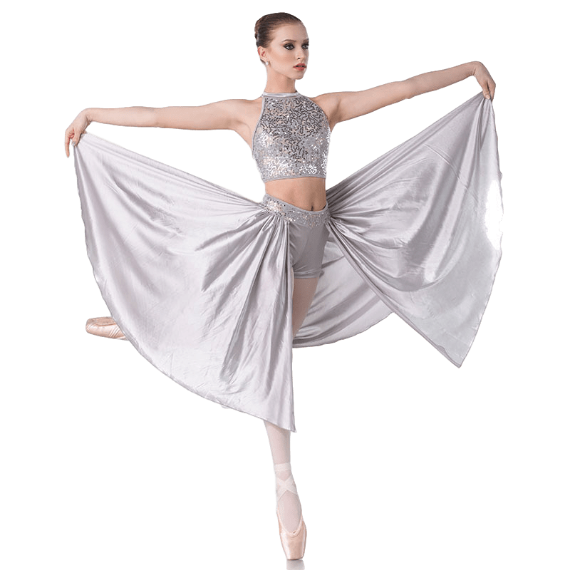 Silver Contemporary Dance Costume