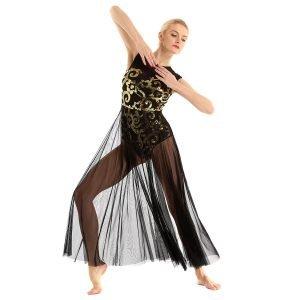 Black Gold Contemporary Dance Costume