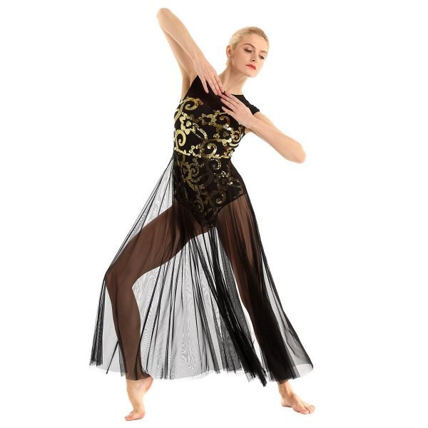 Black Gold Contemporary Dance Costume