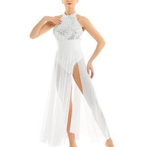 White Chiffon Dance Costume
