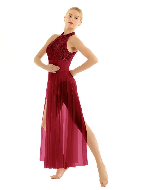 Red Contemporary Dance Costume