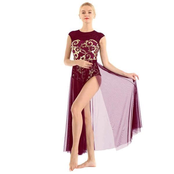 Wine Red Dance Costume