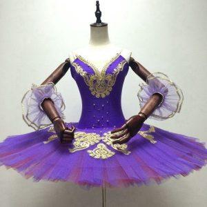 Gold and purple tutu