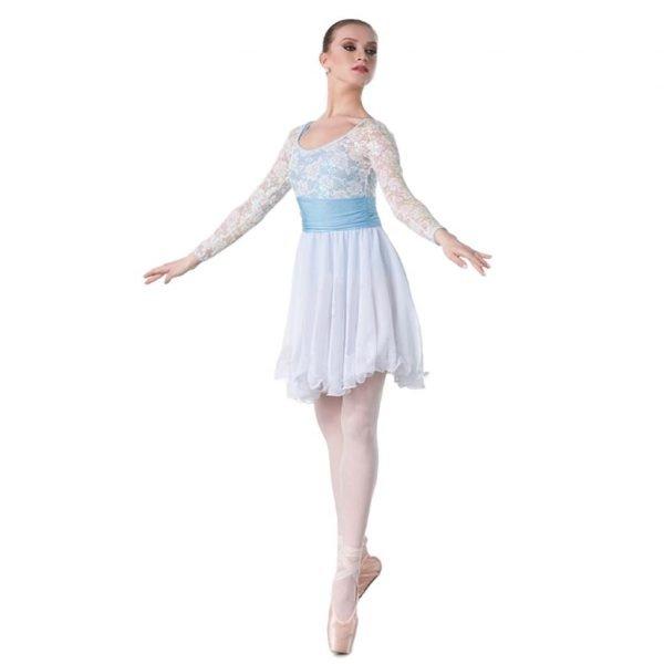 Pale blue dance costume