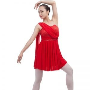 Red dance costume