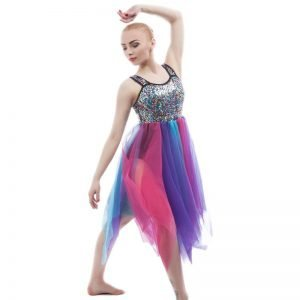 Rainbow dance costume