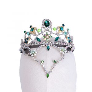 Emerald Ballet Head Piece