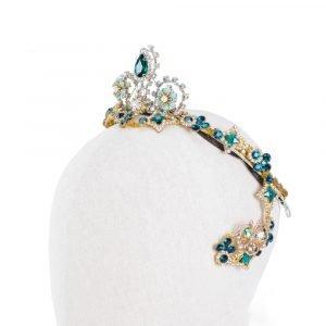 Gold Emerald Ballet Tiara